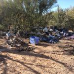 Household dump off Peralta on Arizona State Trust Land